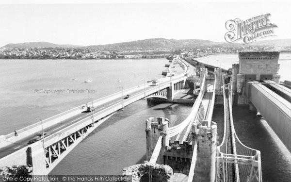 Photo of Conwy, The Bridges c.1965