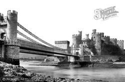 Conwy, The Castle And Bridge 1890