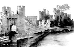 Conwy, The Castle And Suspension Bridge 1906