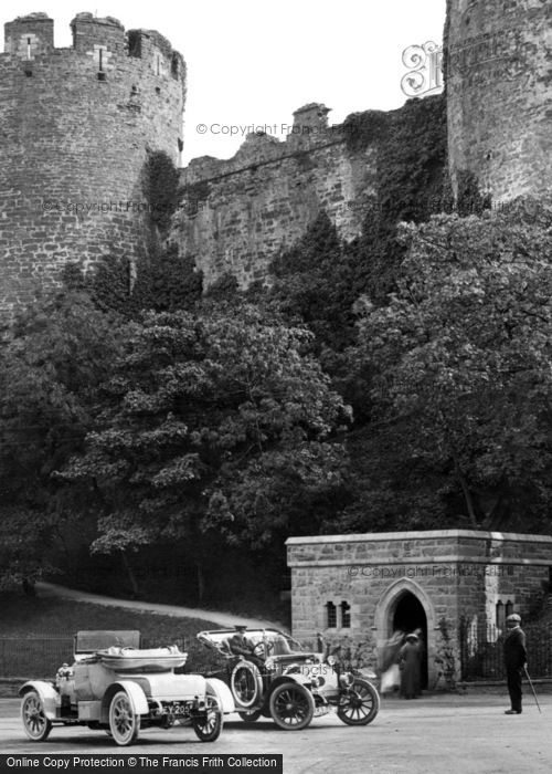 Photo of Conwy, The Castle Car Park 1913