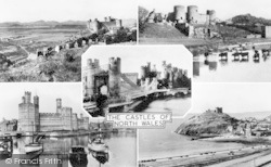 Conwy, The Castles Of North Wales c.1955