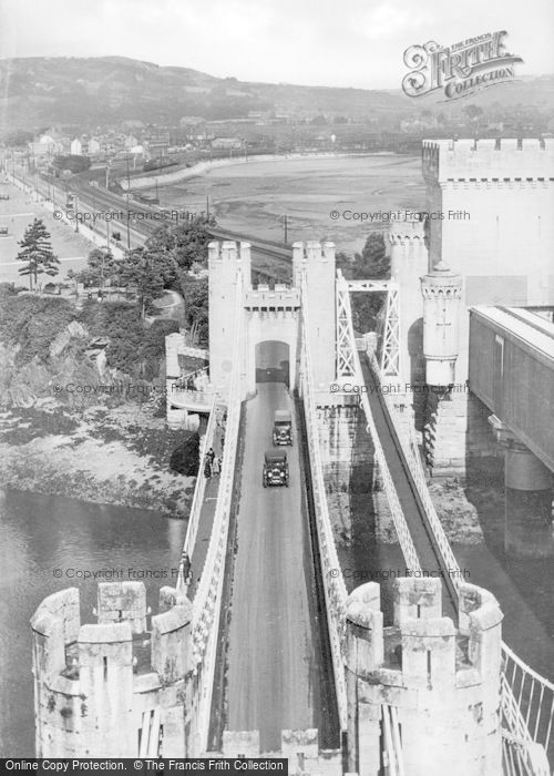 Photo of Conwy, The Suspension Bridge From Castle c.1939