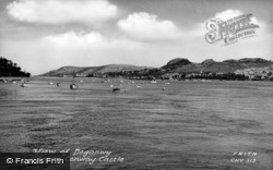 Conwy, View Towards Deganwy From The Castle c.1955