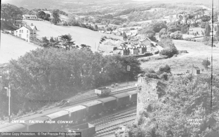 Photo of Conwy, View Towards Talyfan c.1955