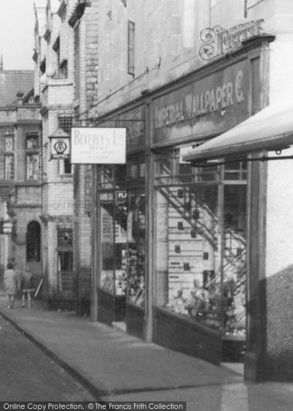Photo of Conwy, Wallpaper Shop c.1936