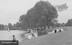 Cookham, Fishing On The River Thames c.1950