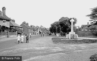 Cookham, the War Memorial and Village Street 1925