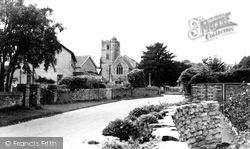 Coombe Bissett, The Village And St Michael's Church c.1955