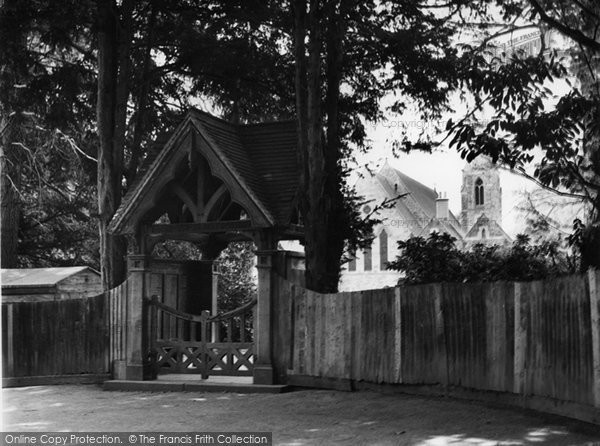 Photo of Copthorne Bank, Lychgate And Church c.1960