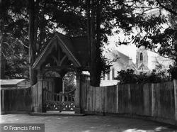 Copthorne Bank, Lychgate And Church c.1960