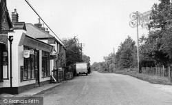 Copthorne, The Post Office And Main Road c.1955
