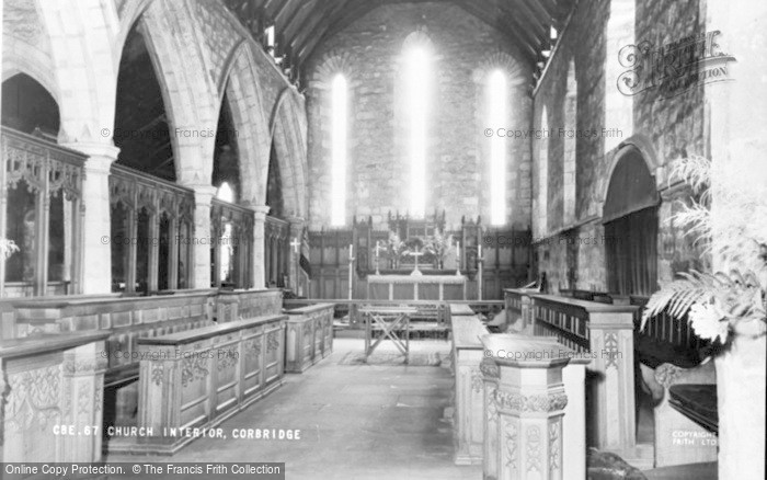 Photo of Corbridge, Church Interior c.1960