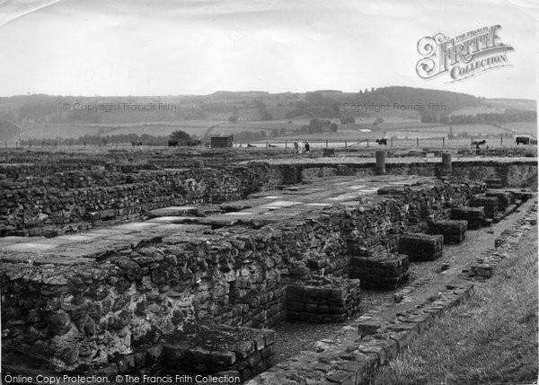 Photo of Corbridge, Corstopitum Camp, East And West Granary c.1955