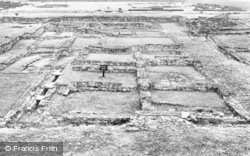 Corbridge, Corstopitum Roman Camp, Officer's House, Eastern Compound c.1930