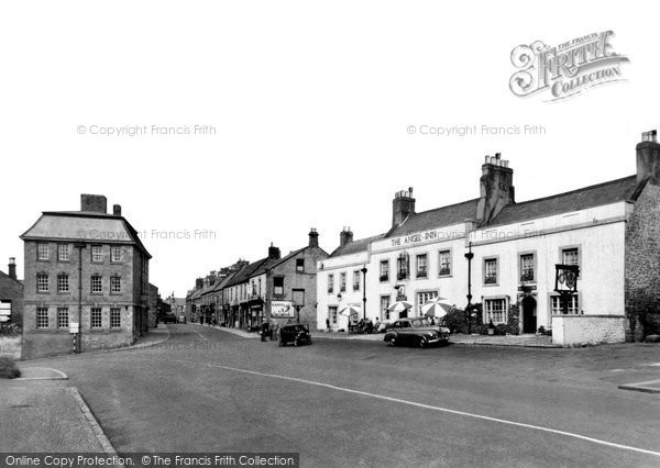Photo of Corbridge, the Angel Inn and Middle Street c1950, ref. C459006