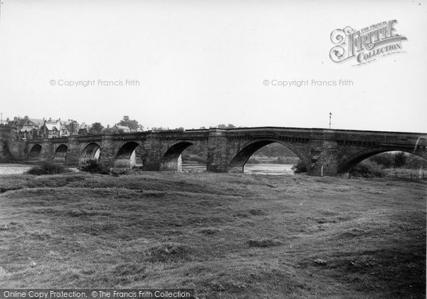 Photo of Corbridge, the Plantation and Bridge c1950, ref. C459004