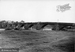 Corbridge, The Plantation And Bridge c.1950