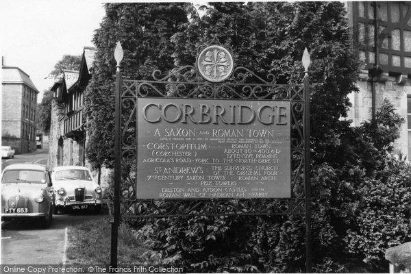Photo of Corbridge, the Town Sign c1960, ref. C459057