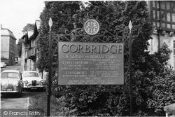 Corbridge, The Town Sign c.1960
