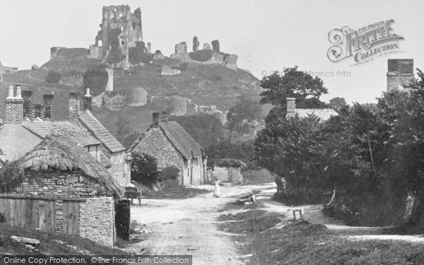 Photo of Corfe Castle, 1890