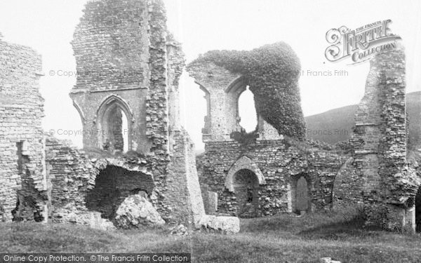 Photo of Corfe Castle, 1890