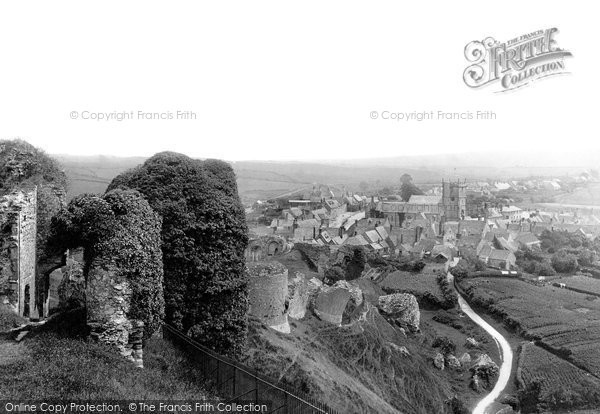 Photo of Corfe Castle, And The Village 1890