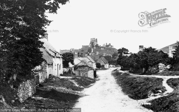 Photo of Corfe Castle, And Village 1890