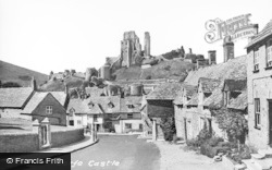 Corfe Castle, And Village c.1955
