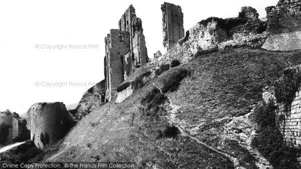 Photo of Corfe Castle, c.1955