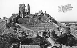 Corfe Castle, c.1955