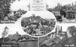 Corfe Castle, Composite c.1900