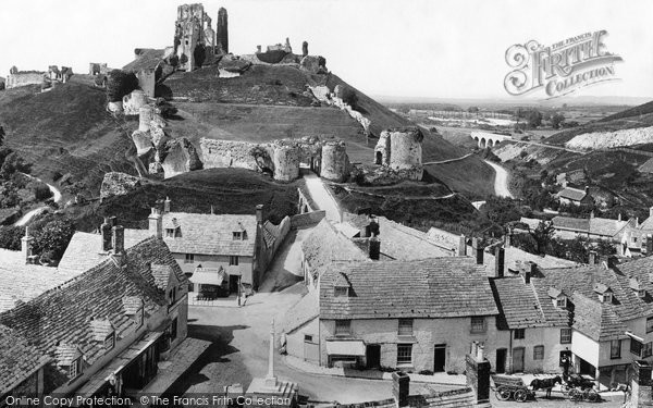 Photo of Corfe Castle, From The Church 1897