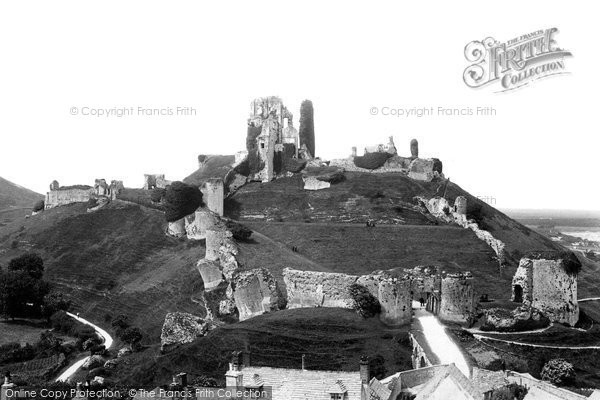 Photo of Corfe Castle, From The Church Tower 1890