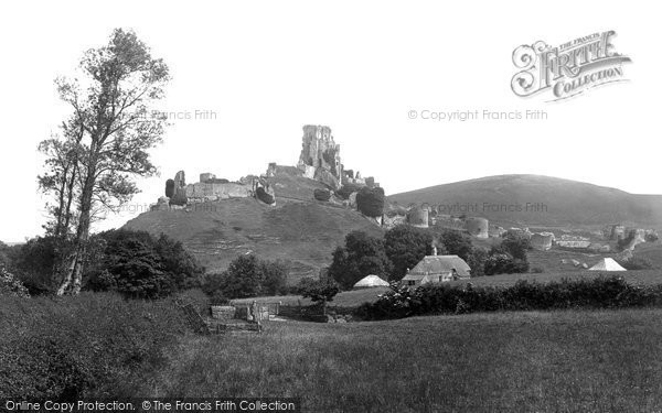 Photo of Corfe Castle, From The West 1890