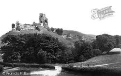 Corfe Castle, From The West 1890