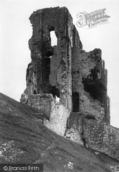 Corfe Castle, The Castle Keep 1890