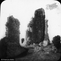 Corfe Castle, The Keep 1890