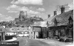 Corfe Castle, the Village and Castle c1955