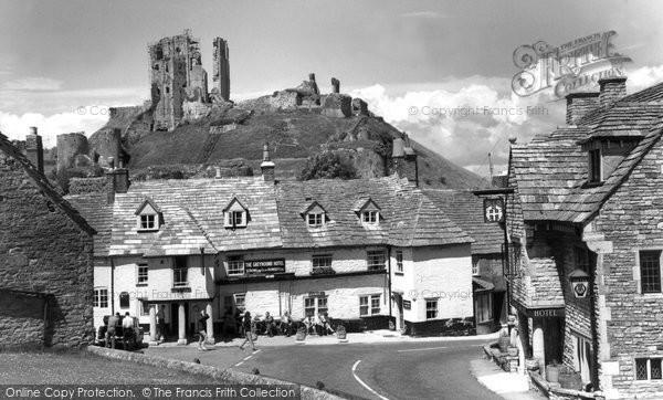 Photo of Corfe Castle, The Village And Castle c.1955