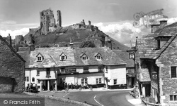 Corfe Castle, The Village And Castle c.1955