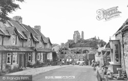 Corfe Castle, The Village And Castle c.1965