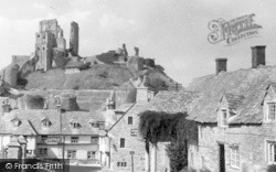Corfe Castle, Village And Castle c.1950