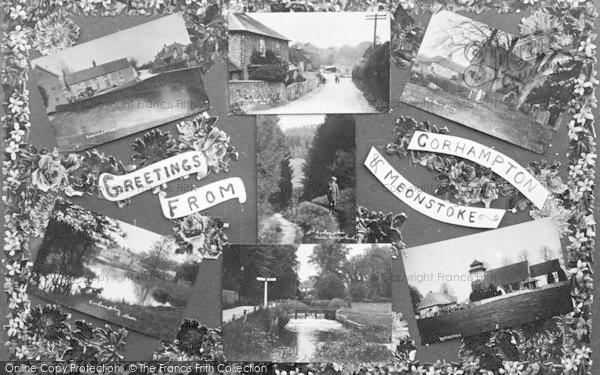 Photo of Corhampton, Composite, 'greetings From Corhampton And Meonstoke' c.1935