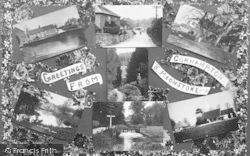 Corhampton, Composite, 'greetings From Corhampton And Meonstoke' c.1935