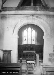 Corhampton, The Saxon Church Interior c.1950