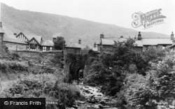 Corris, River And Bridge c.1955