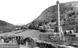 Corris, The Monument c.1960