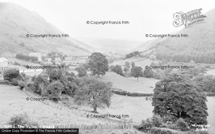 Photo of Corris, The Valley c.1955