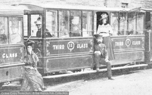 Photo of Corris, Train, Third Class Carriage c.1895