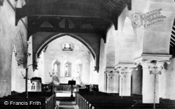 Corwen, Church Interior 1888